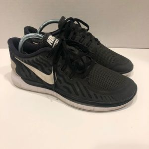 Nike Free 5.0 Women Size 9 Black/White Shoe